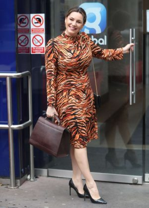 Kelly Brook - Arriving at Global Radio in London