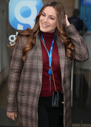 Kelly Brook - Arriving at The Global Radio in London