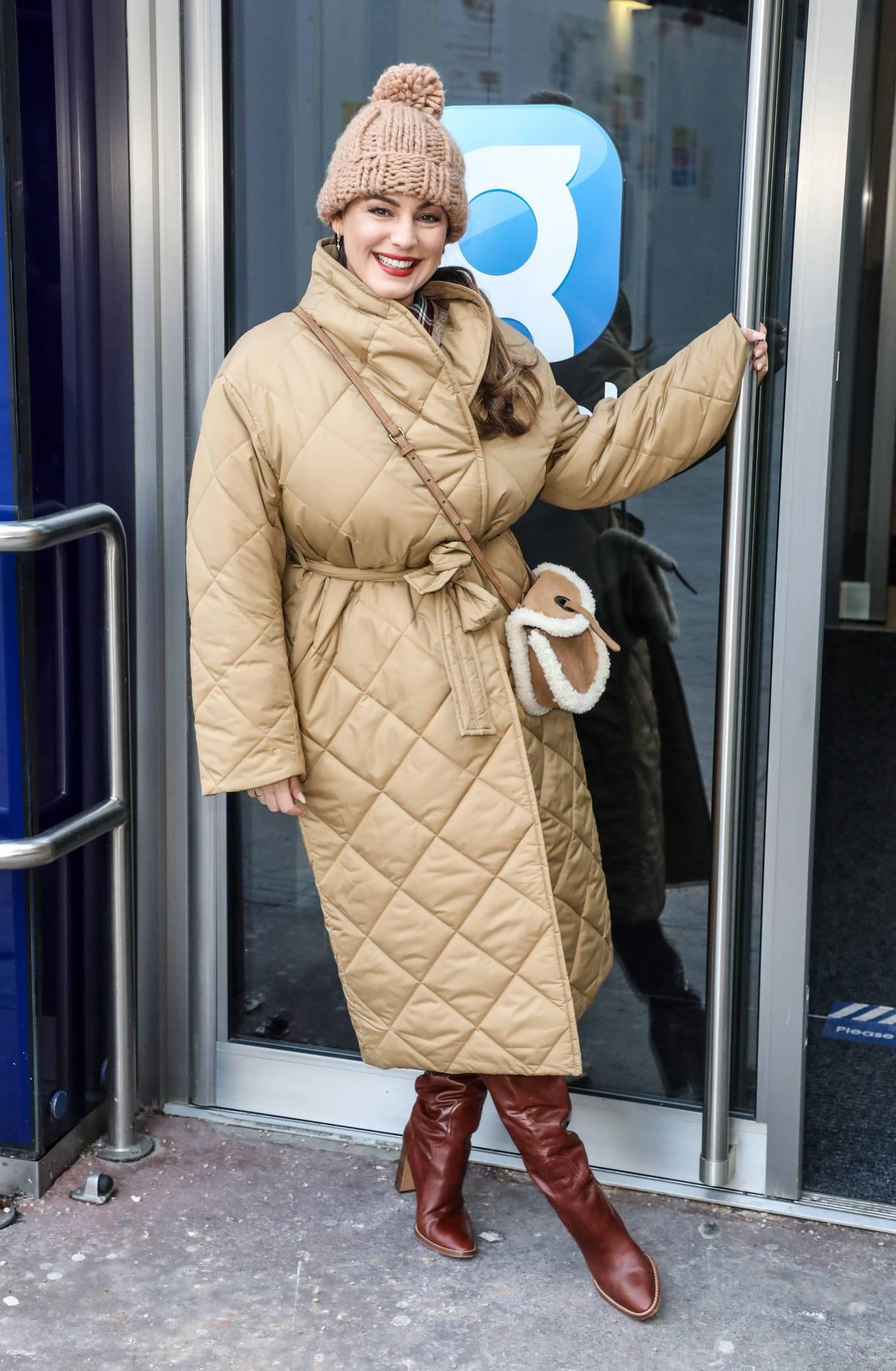 Kelly Brook - Arriving at the Global Radio Studios in London