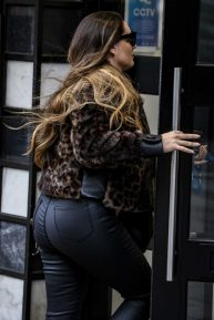 Kelly Brook - Arriving at the Global Radio Studios in London