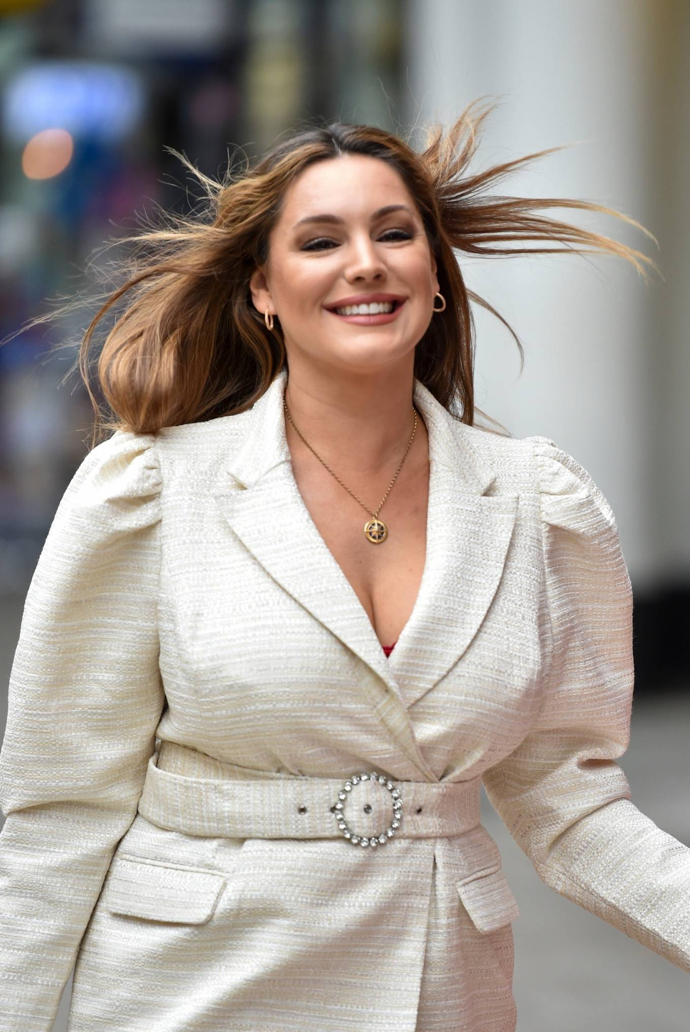 Kelly Brook - Arriving at the Global studios in London