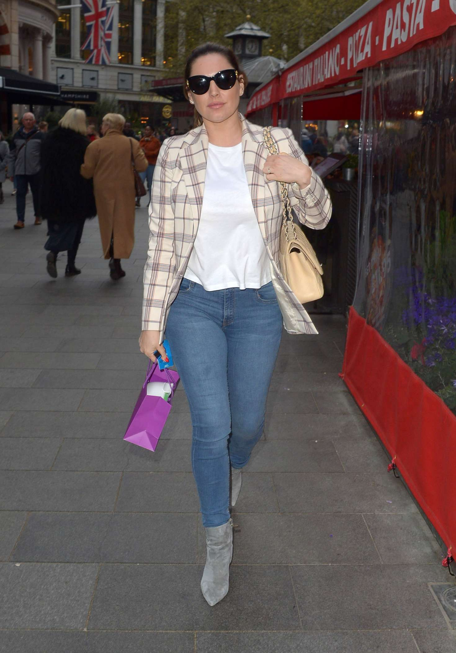 Kelly Brook at Global Radio studios in London