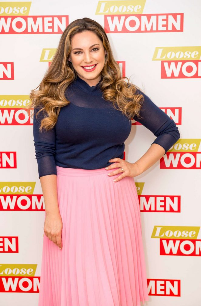 Kelly Brook at 'Loose Women' TV show in London
