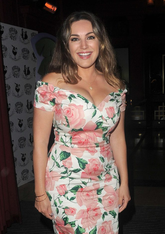 Kelly Brook at Steam and Rye Restaurant in London