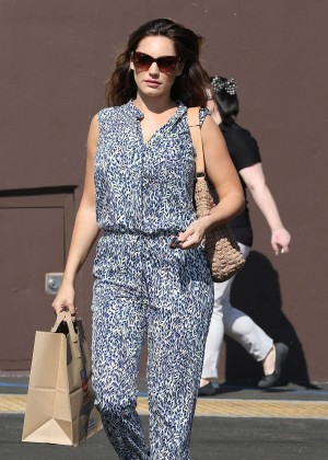 Kelly Brook in Jumpsuit Out in LA