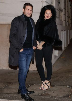 Kelly Brook - Celebrating Her Birthday at Laperouse Restaurant in Paris