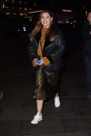 Kelly Brook - Departs Global Radio Studios in London