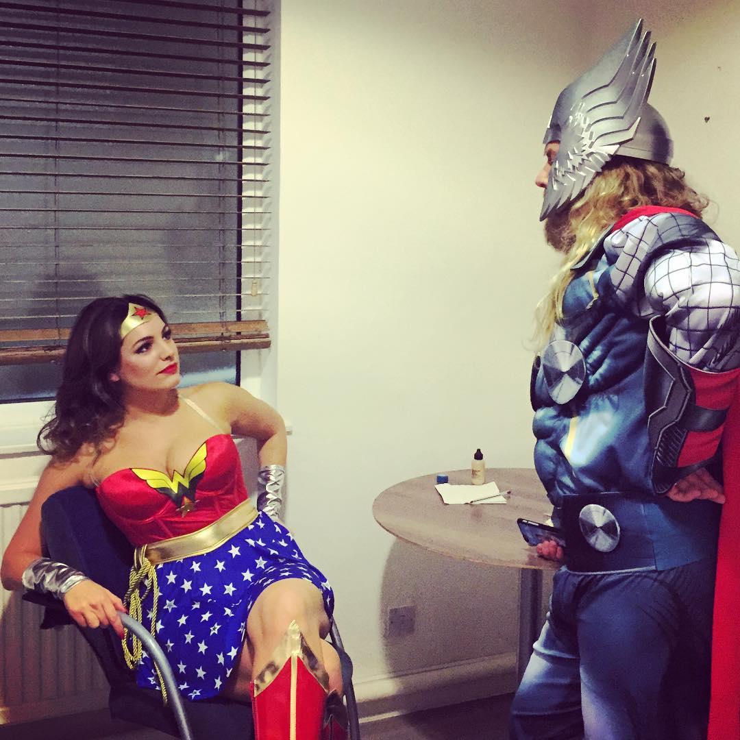 Kelly Brook 2016 : Kelly Brook: Dressed as Wonder Woman -01
