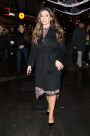 Kelly Brook - Exits Heart Radio in London
