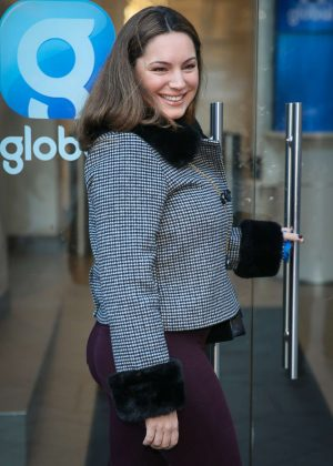 Kelly Brook - Global Radio Studios in London