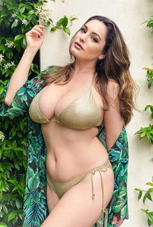 Kelly Brook in a Bikini - Instagram Pics