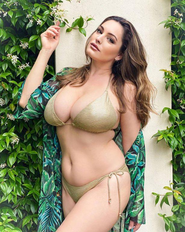 Kelly Brook in a Bikini - Instagram Pics