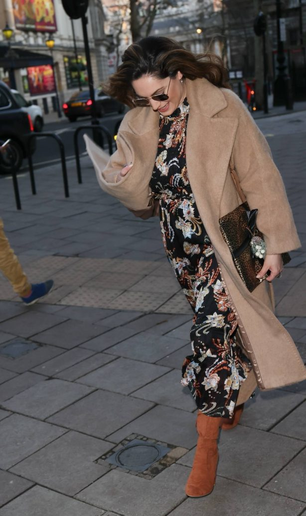 Kelly Brook - In a floral dress in London