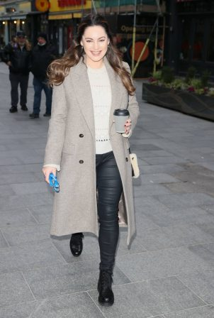 Kelly Brook - In a leather pants in London
