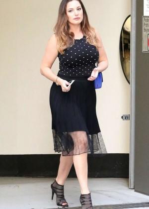 Kelly Brook in Black Dress out in Santa Monica