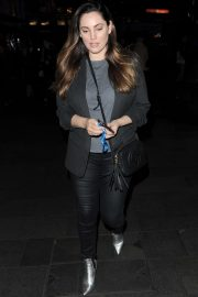 Kelly Brook in Black Pants - Leaving Global Radio Studios in London