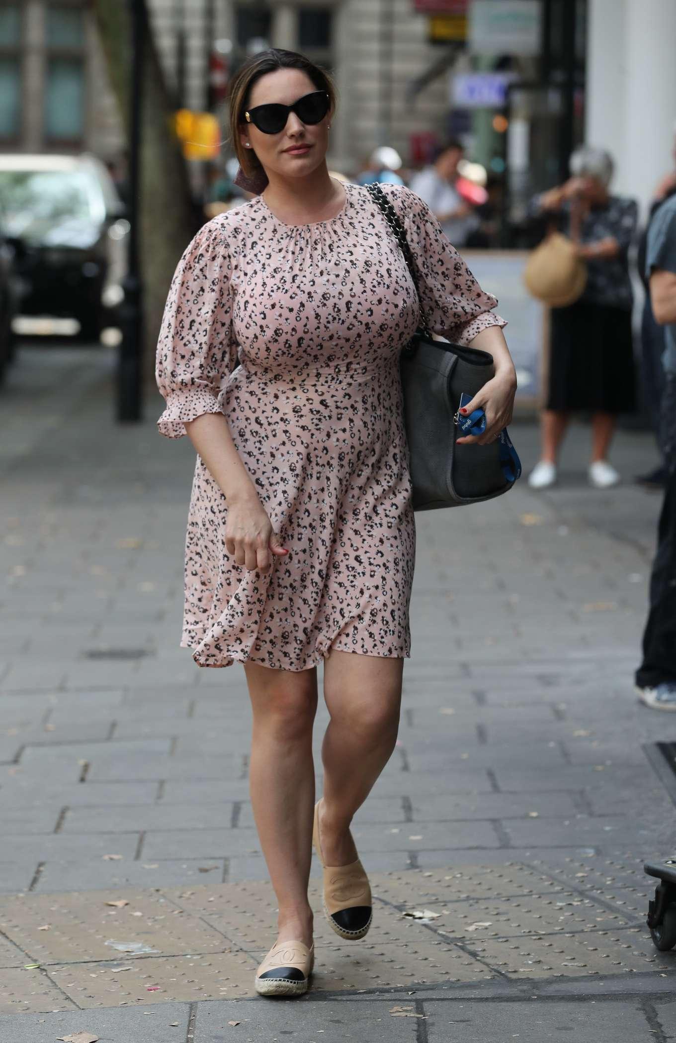 Kelly Brook - In dress at Global Radio in London