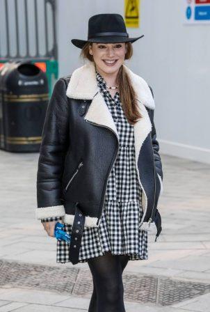 Kelly Brook - In dress at the Global Radio Studios in London