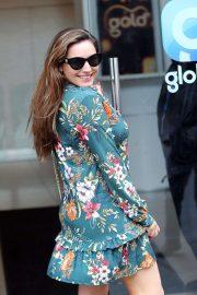 Kelly Brook in Floral Mini Dress - Outside Global radio studios in London
