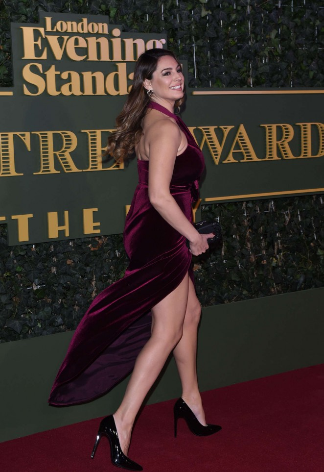 Kelly Brook - In Long Dress at Evening Standard Theatre Awards in London