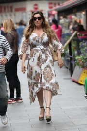 Kelly Brook in Long Dress - Out in London