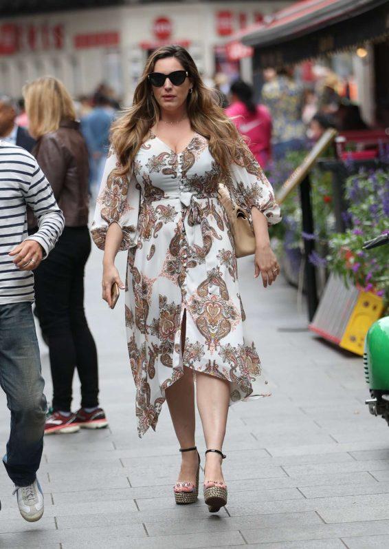 Kelly Brook in Long Dress - Out in London