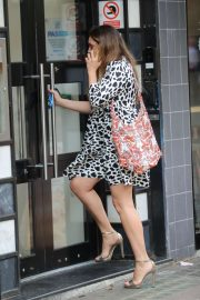 Kelly Brook in Mini Dress - Arrives at Global Radio in London