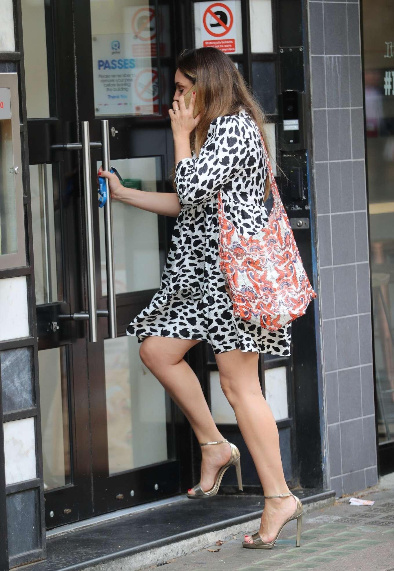 Kelly Brook in Mini Dress - Arrives at Global Radio in London