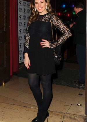 Kelly Brook in Mini Dress at Steam & Rye in London