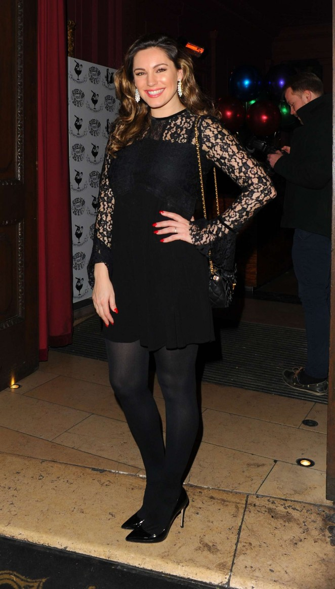 Kelly Brook in Mini Dress at Steam & Rye in London