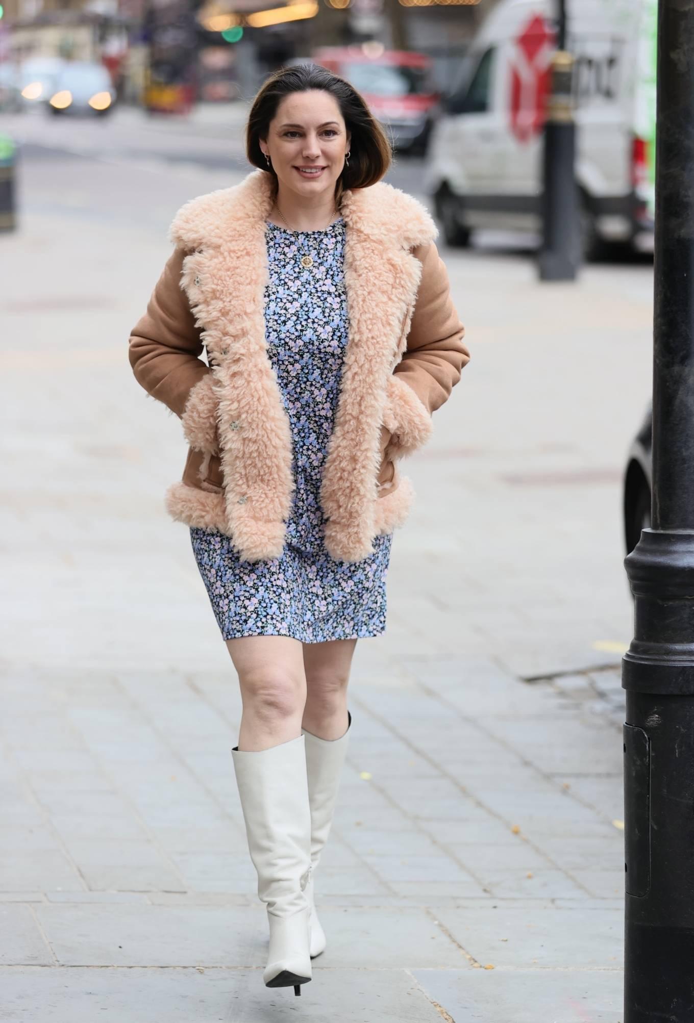 Kelly Brook 2021 : Kelly Brook – In mini dress leaving Global Radio Studios in London-03