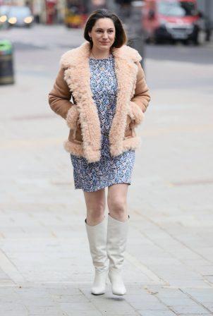 Kelly Brook - In mini dress leaving Global Radio Studios in London