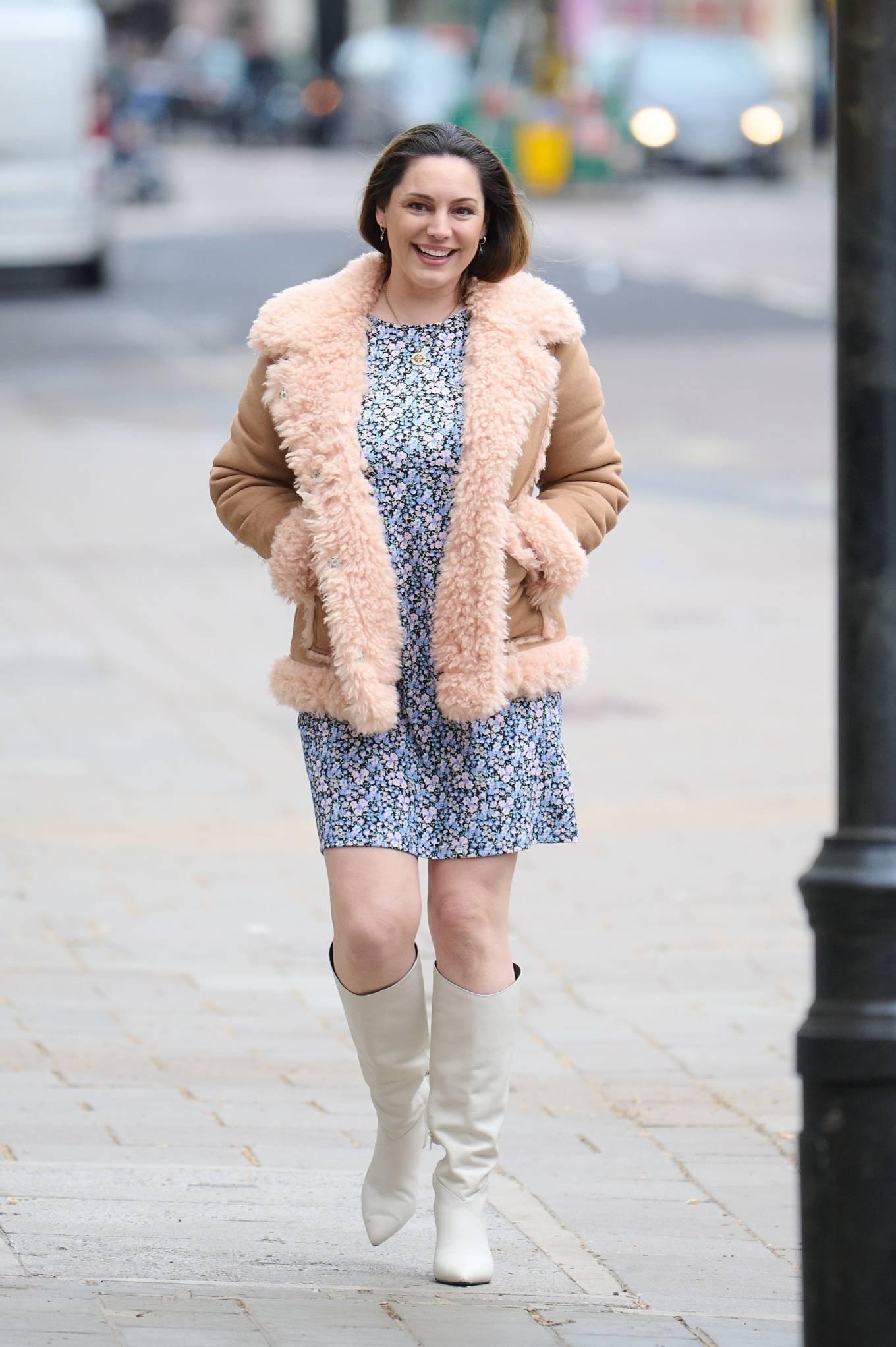 Kelly Brook 2021 : Kelly Brook – In mini dress leaving Global Radio Studios in London-08