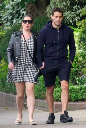 Kelly Brook in Mini Dress - Out for a walk in London