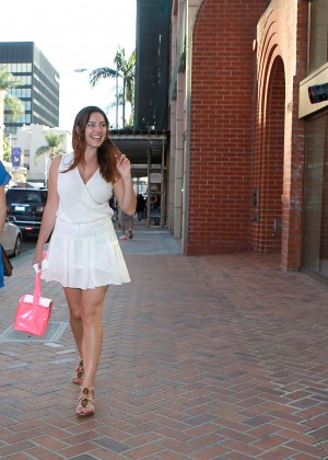Kelly Brook in White Mini Dress -02