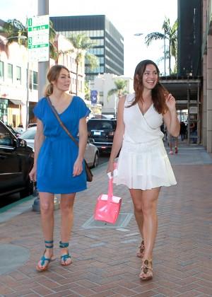 Kelly Brook in White Mini Dress -04