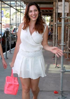Kelly Brook in White Mini Dress -06