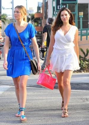Kelly Brook in White Mini Dress -08