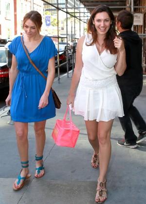 Kelly Brook in White Mini Dress -09