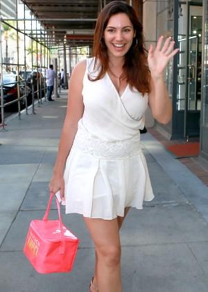 Kelly Brook in White Mini Dress -14