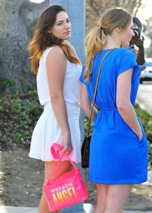 Kelly Brook in White Mini Dress -16