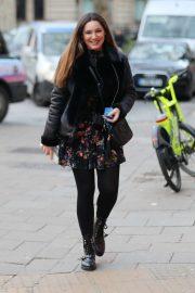 Kelly Brook in Mini Dress - Out in London