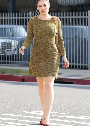 Kelly Brook in Mini Dress out in Santa Monica