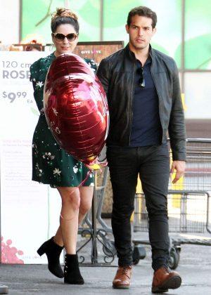 Kelly Brook in Mini Dress with Jeremy Parisi in LA