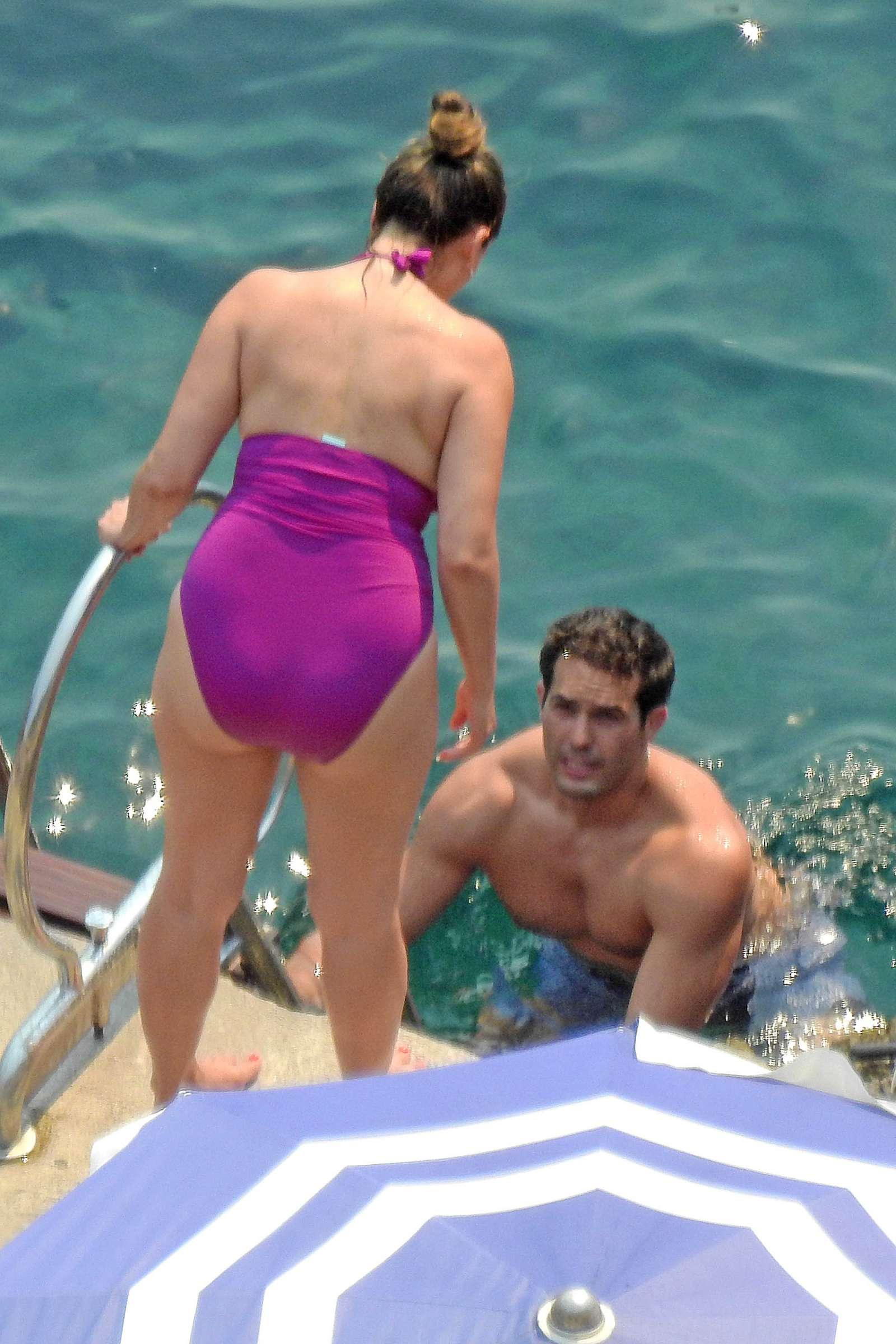 Kelly Brook In Purple Swimsuit 2016 13 Gotceleb