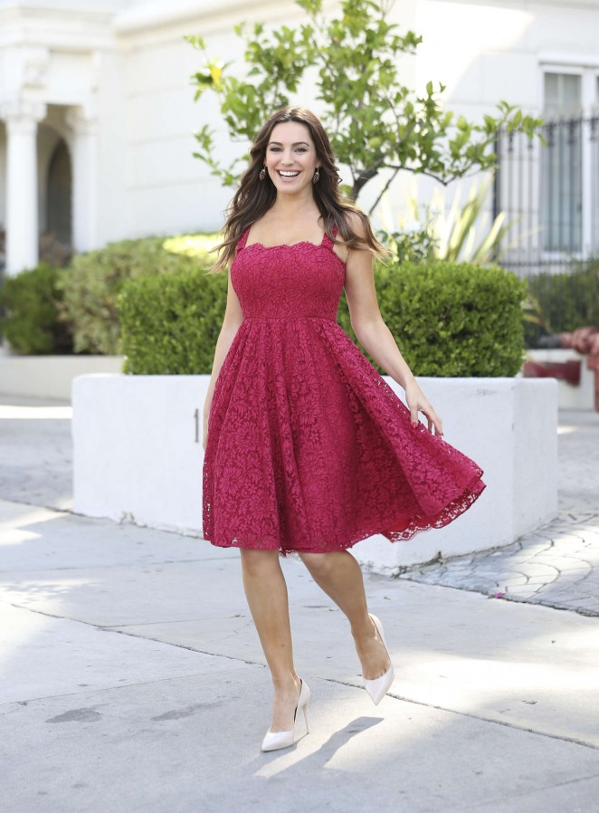 Kelly Brook in Red Dress Out in West Hollywood
