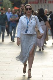 Kelly Brook in Summer Skirt - Leaving Global Radio Studios in London