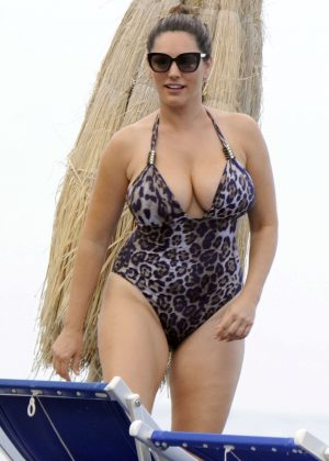 Kelly Brook in Swimsuit in Ischia