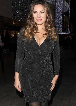 Kelly Brook in Tight Mini Dress out in London