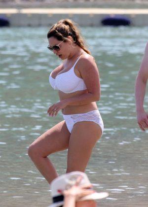 jill kelly white bikini